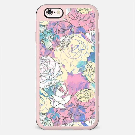Linear pastel roses - New Standard Case