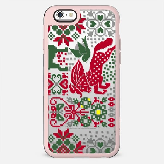 Christmas sweater decorative clear case - New Standard Case