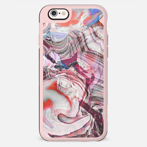 Dark pink agate marble lines
