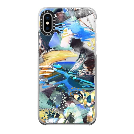 iPhone 6s Cases - Watercolor painting blue yellow