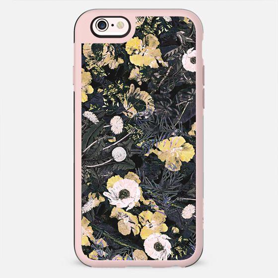 Yellow botanical floral illustration - New Standard Case
