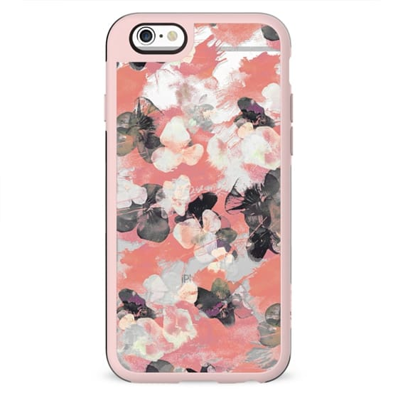 Pansy petals pink clear case