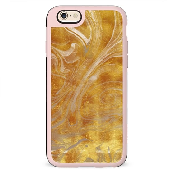 Golden marble clear case