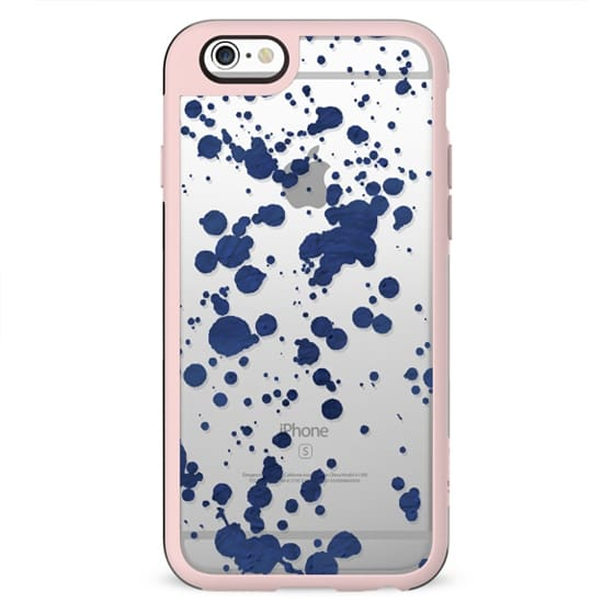 Blue watercolor spots
