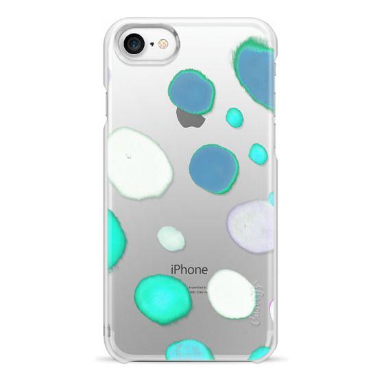 iPhone 6s Cases - Painted blue watercolor bubbles