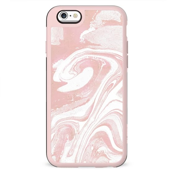 Pink marble swirl