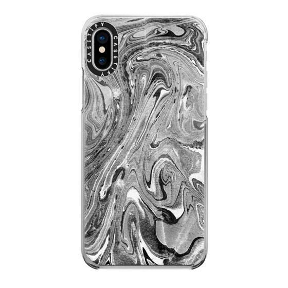 iPhone 7 Plus Cases - Textured grey marble art