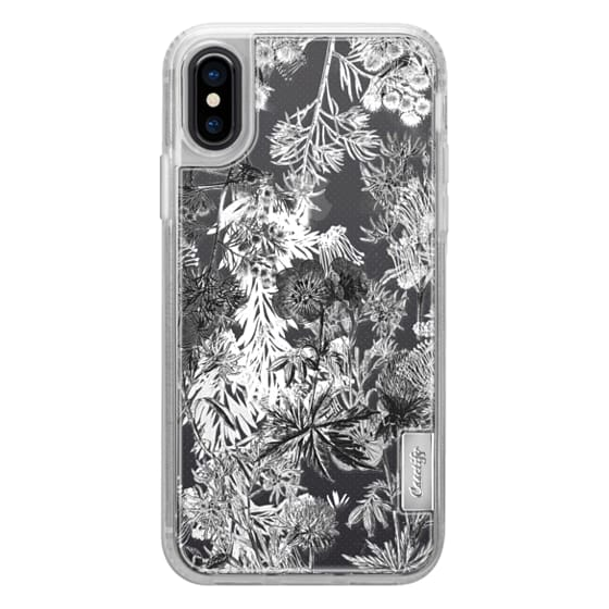 iPhone 6s Cases - Black and white flowers line art