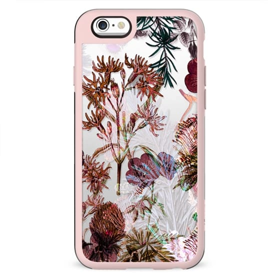 Botanical painted floral clear case