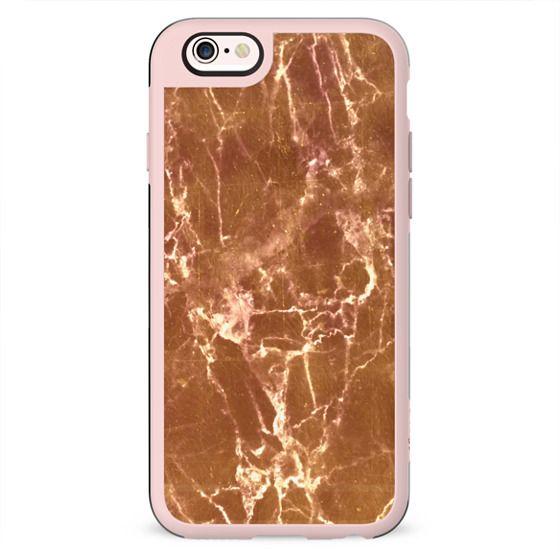 Golden marble cracks