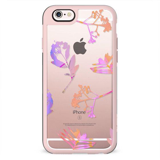 Pink transparent flowers