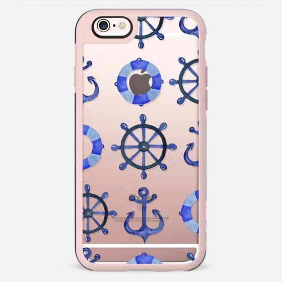 Nautical watercolor doodles - New Standard Case