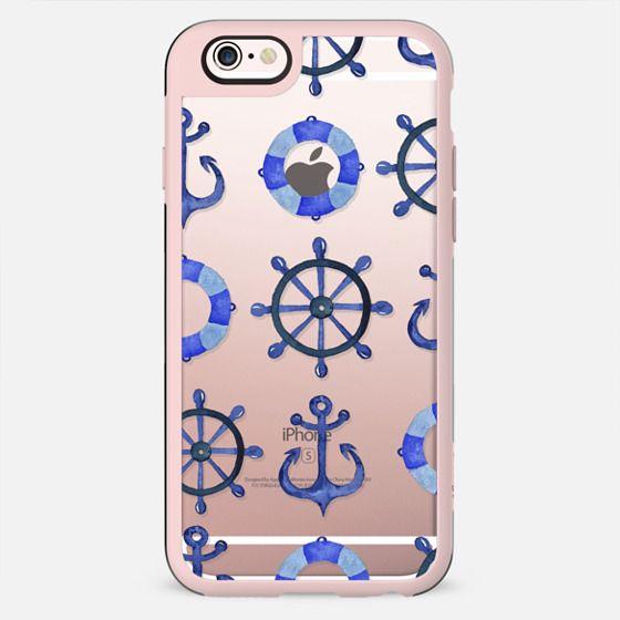 Nautical blue doodles