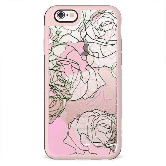Pink liniar rose petals