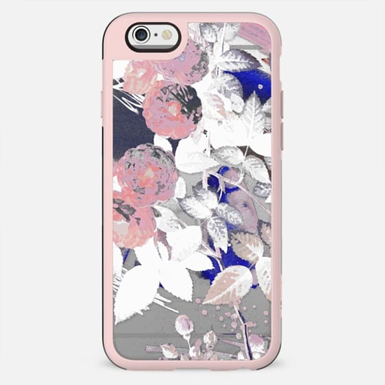 Painted transparent x-ray roses - New Standard Case