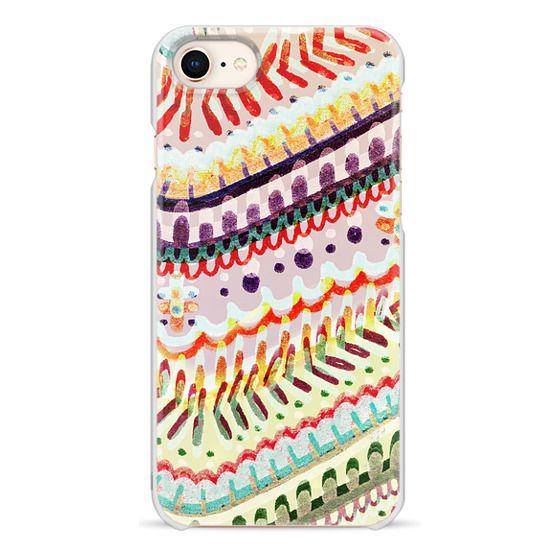 iPhone 7 Plus Cases - Colourful ethnic doodles