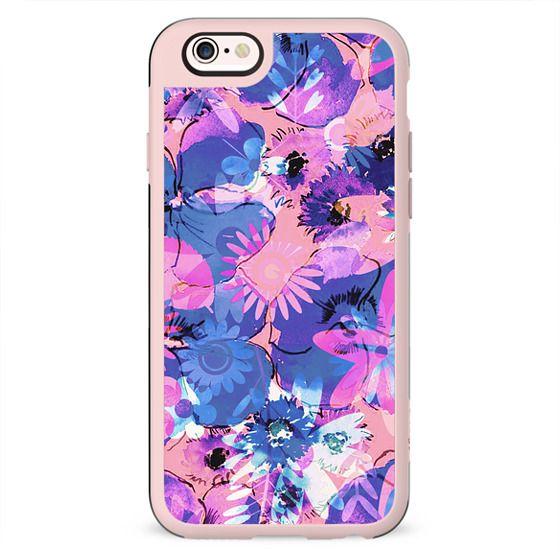 Pink purple watercolor petals