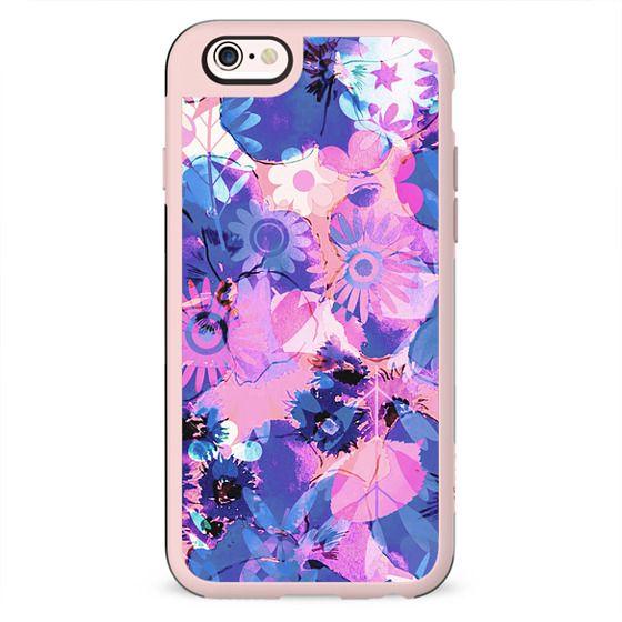 Pink purple watercolor petals II