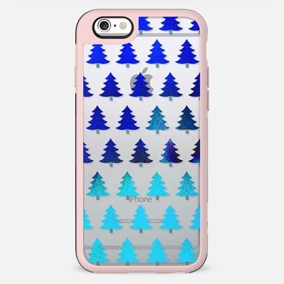 Gradient blue  Christmas trees - New Standard Case