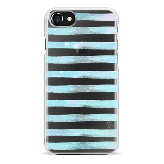 iPhone 6s Cases - Pastel blue watercolor stripes clear