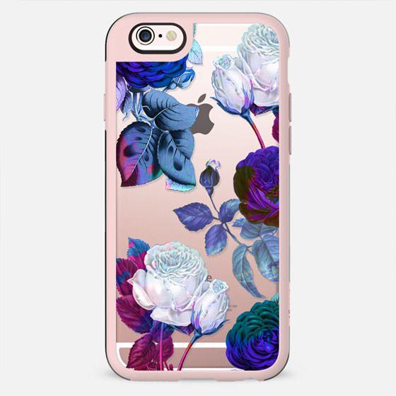 Blue roses botanical illustration clear - New Standard Case