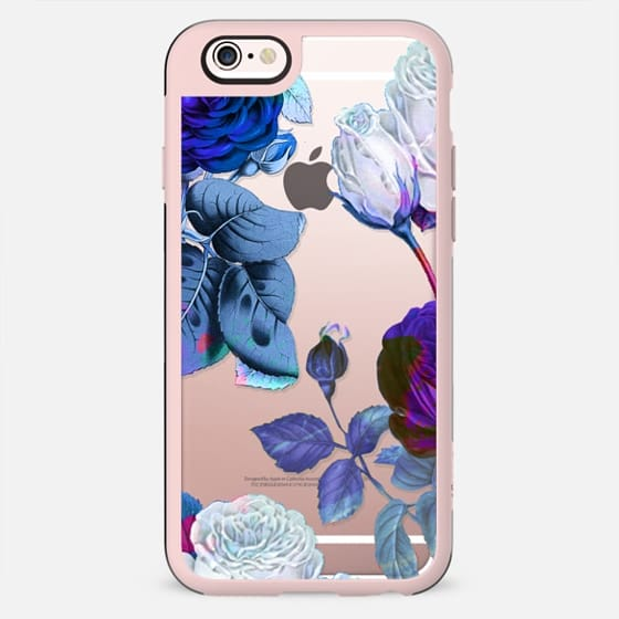roses botanical illustration clear case