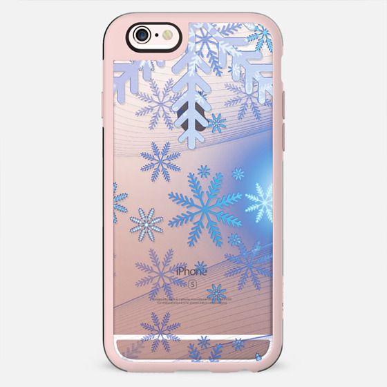 Blue silver snowflakes