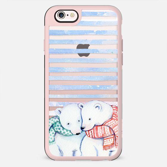 Cute cuddling polar bears