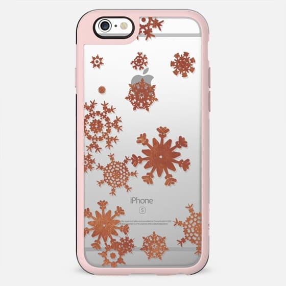 Minimal copper painted snowflakes
