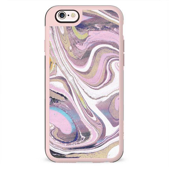 Pink beige liquid marble