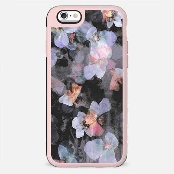 Dark painted delicate pansy petals - New Standard Case