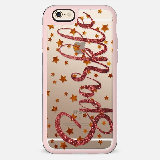 Golden sparkling stars clear - New Standard Case