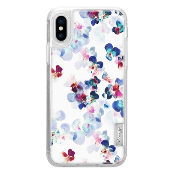 iPhone 6s Cases - Painted romantic pansy petals