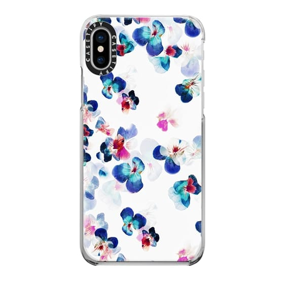 iPhone 6s Cases - blue painted romantic pansy petals