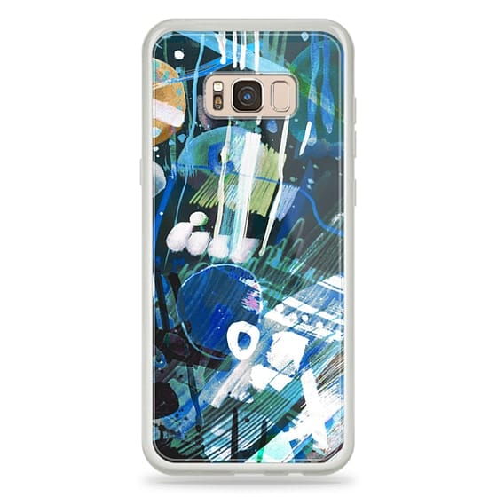 iPhone 6s Cases - Blue painted watercolor doodles