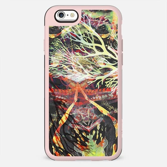 Painted neon watercolor coral - New Standard Case
