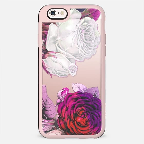 Pink white rose petals clear - New Standard Case