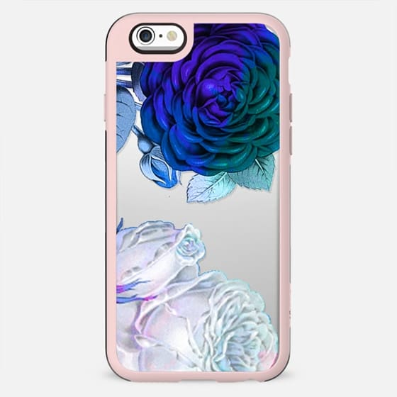 White blue roses clear - New Standard Case