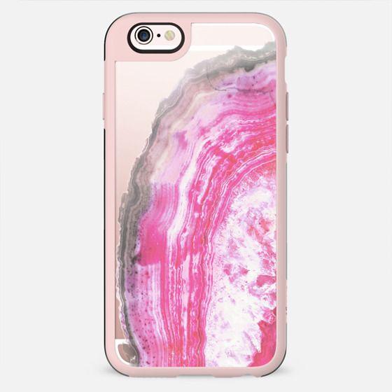 Pink transparent marble