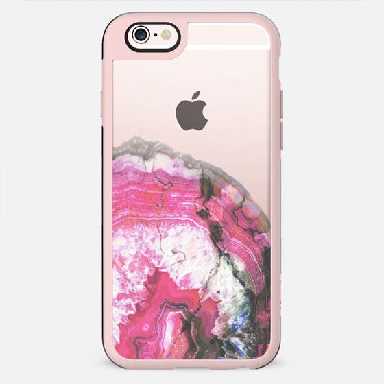 Pink precious gem agate
