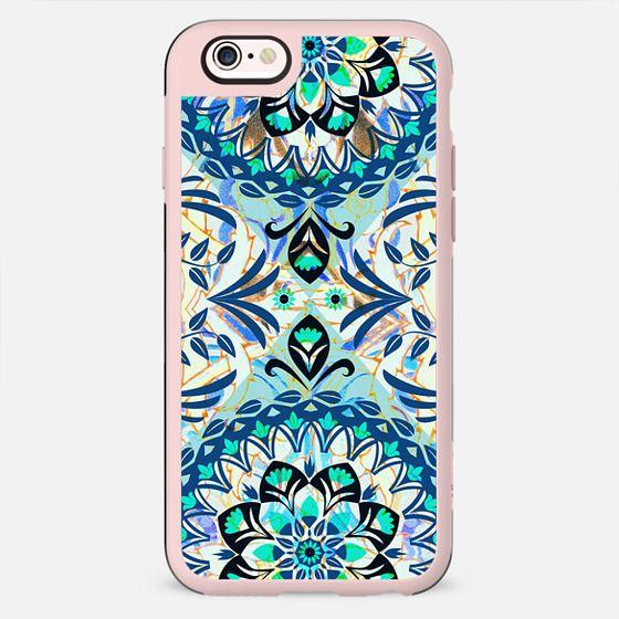 romantic blue foliage pattern - New Standard Case
