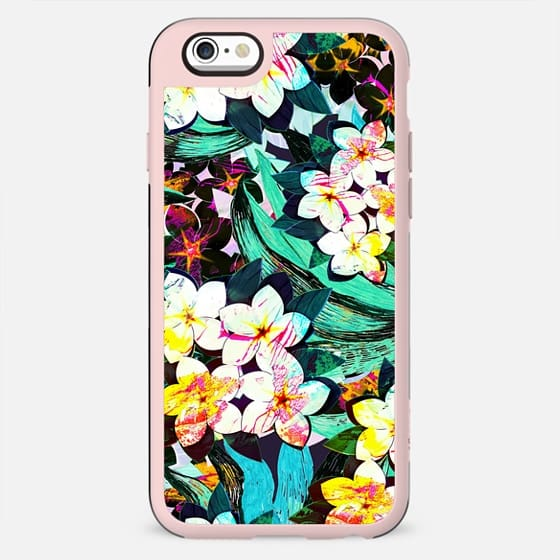 Painted tropical flower bright pattern