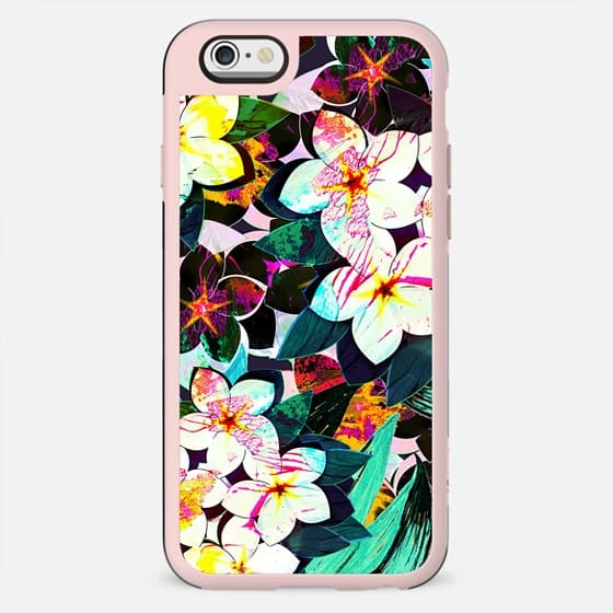Painted tropical flowers bright pattern II - New Standard Case