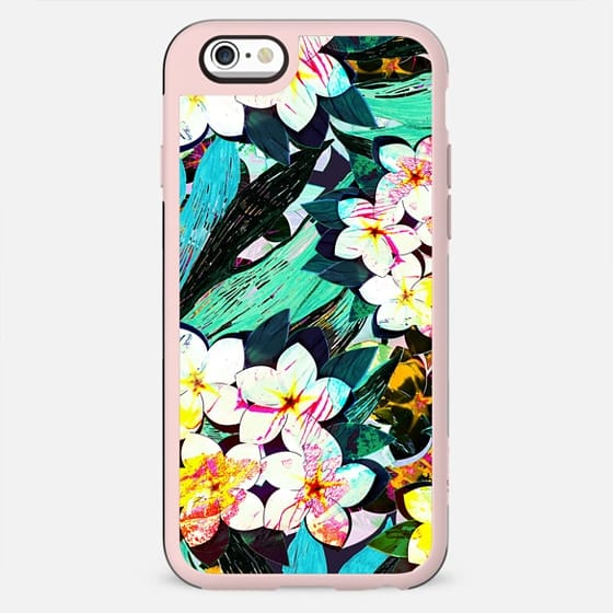 Painted tropical flowers pattern