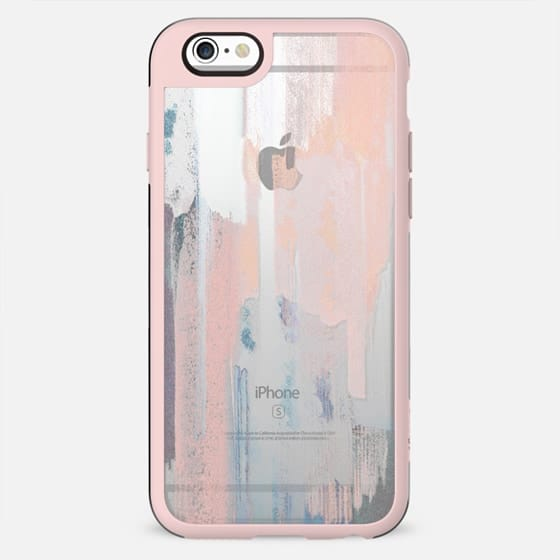 Abstract pastel painted brushes clear case