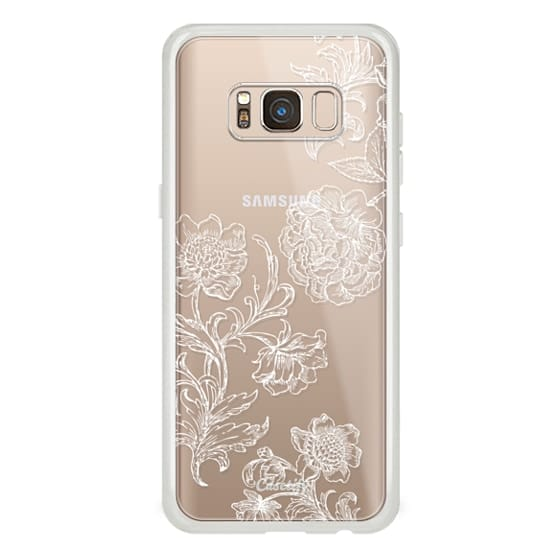 iPhone 6s Cases - White floral line art lace clear case