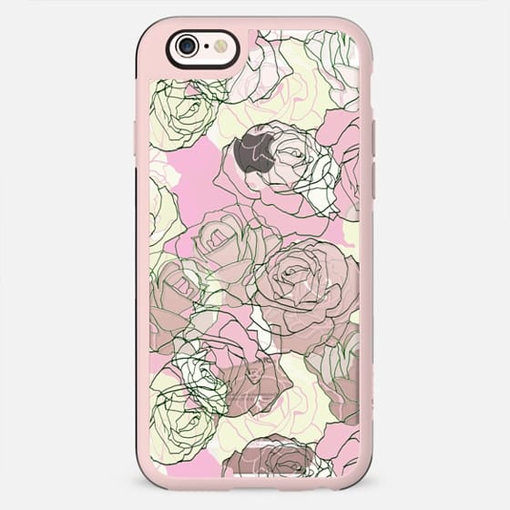 Pastel roses line art clear - New Standard Case