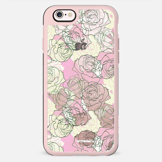 Pastel roses line art transparent - New Standard Case