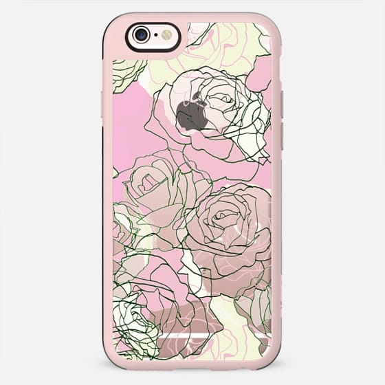 Pastel line rose petals minimal