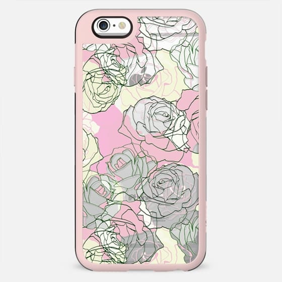 Pastel line rose petals minimal clear